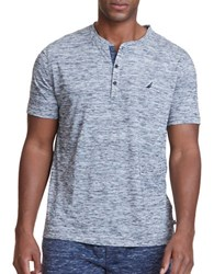 Nautica Space Dyed Sleep Henley Shirt Marshmallow