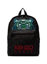 Kenzo Black Embroidered Tiger Backpack
