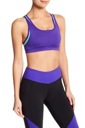 New Balance Padded Sports Bra Purple