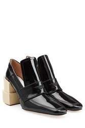 Maison Martin Margiela Maison Margiela Patent Leather Pumps With Statement Heel Black
