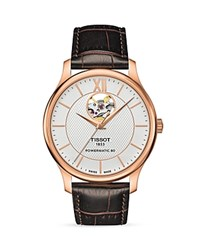 Tissot Tradition Powermatic 80 Open Heart Watch 40Mm White Brown