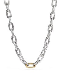 David Yurman Madison Chain 13.5Mm Large Link Necklace With 18K Link 20 Yellow Silver