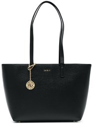 Donna Karan Medium Shopper Bag Calf Leather Black