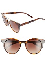 Ted Baker Women's London 51Mm Gradient Lens Round Retro Sunglasses Tortoise
