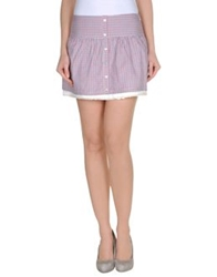 Duck Farm Mini Skirts Red