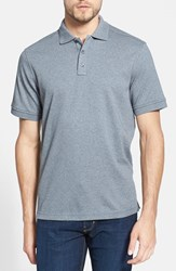 Men's Nordstrom Regular Fit Interlock Knit Polo Grey Cloudy Heather