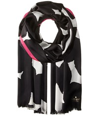 Kate Spade Blot Dot Silk Oblong Scarf Black