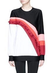 No Ka' Oi 'Nalu Nau' Colourblock Ruffle Sweatshirt Multi Colour