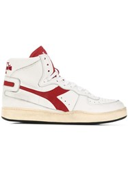 Diadora Side Logo High Top Sneakers White