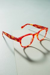Anthropologie Tortoise Rouge Reading Glasses Red Motif