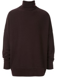 Calvin Klein 205W39nyc Turtleneck Jumper Brown
