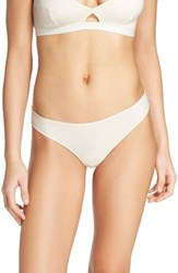 Madewell Women's Jersey Thong Heather Bisque