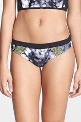 Adidas 'Space Case' Banded Hipster Bikini Bottoms Multi