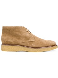 Tod's Chunky Sole Desert Boots Nude And Neutrals