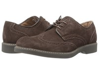 Bass Pembroke Dark Brown Men's Lace Up Wing Tip Shoes