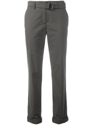 Akris Punto Slim Fit Trousers Green