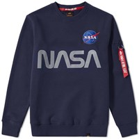 Alpha Industries Nasa Reflective Crew Sweat Blue