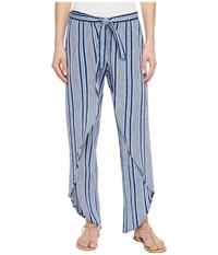 Roxy Jessa Pants Deep Cobalt Cherokee Stripe Casual Pants Blue