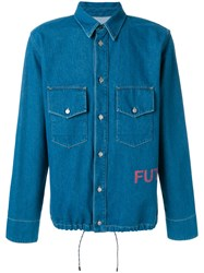 Golden Goose Deluxe Brand Classic Fitted Denim Shirt Cotton Blue