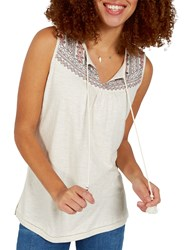 Fat Face Saffron Embroidered Cami Ivory