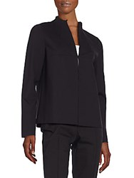 Lafayette 148 New York Ponte And Suede Jacket Black