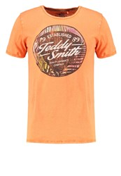 Teddy Smith Tenny Print Tshirt Orange