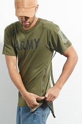 Forever 21 Cross Colours Army Graphic Tee Olive