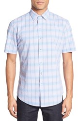 Men's Zachary Prell 'Foxen' Trim Fit Plaid Sport Shirt