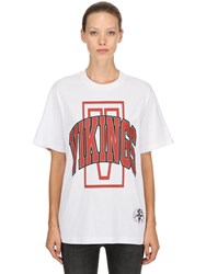 Bbc Billionaire Boys Club Vikings Cotton Jersey T Shirt White