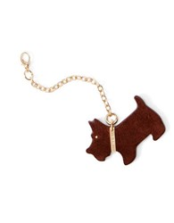 Lauren Ralph Lauren Scottie Dog Suede Key Fob Brown