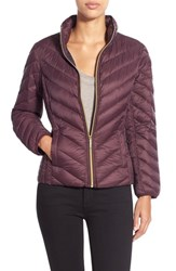 Petite Women's Michael Michael Kors Chevron Quilted Packable Down Jacket