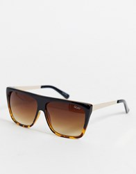 Quay Australia Otl Sunglasses In Tort Brown