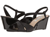 Nina Ellora Black Women's Wedge Shoes