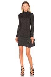 Velvet By Graham And Spencer Dacey Long Sleeve Turtleneck Mini Dress Black