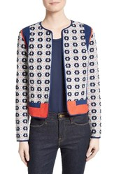 Tory Burch Women's Rainford Clip Jacquard Quilted Jacket