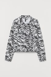 Handm H M Patterned Twill Jacket White