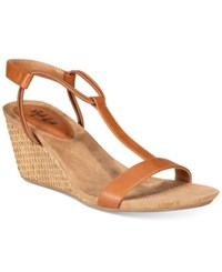 Style And Co Co. Mulan Wedge Sandals Only At Macy's Women's Shoes Coffee