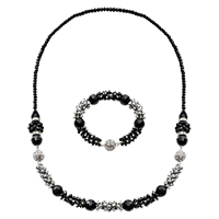 Martick Three Part Magnetic Necklace Black