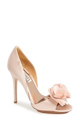 Badgley Mischka 'Blossom' Open Toe D'orsay Pump Women Light Pink