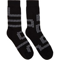 Versace Black Greek Socks