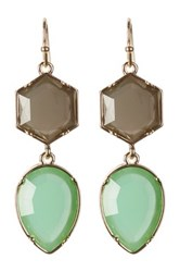 Baublebar Jewel Hex Acrylic Drop Earrings Green