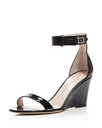 Kate Spade New York Ronia Ankle Strap Wedge Sandals Black