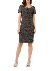 Phase Eight Taya Scalloped Dress Grey