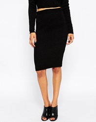 Ax Paris Knitted Pencil Skirt Black