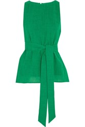 Cefinn Belted Crepe Top Green