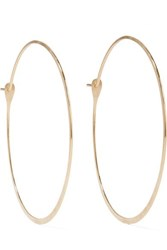 Melissa Joy Manning 14 Karat Gold Hoop Earrings One Size