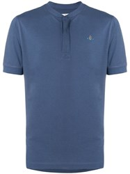 Vivienne Westwood Logo Collarless Polo Shirt Pink And Purple