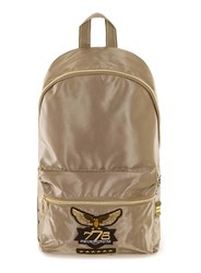Topman Metallic Gold Military Style Backpack