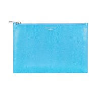 Aspinal Of London Essential Pouch Large Aquamarine