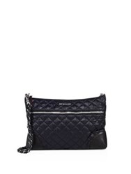 M Z Wallace Quilted Crosby Crossbody Bag Black